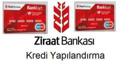 Ziraat Bankası kredi kartı borcu yapılandırması