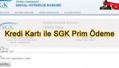 Kredi Kartı ile SGK Ödeme