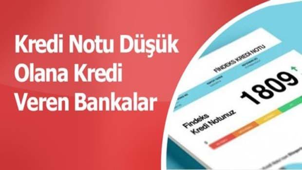 kredi notu düşük olanlara