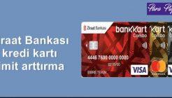 2020 Ziraat Bankası Kredi Kartı Limiti Arttırma